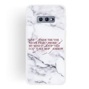Maxim Scrub Semi-transparent TPU Marble Phone Case for Galaxy S10e
