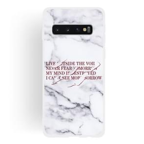 Maxim Scrub Semi-transparent TPU Marble Phone Case for Galaxy S10+