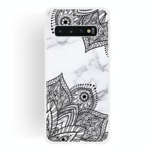 Diagonal Lace Matte Semi-transparent TPU Marble Phone Case for Galaxy S10+
