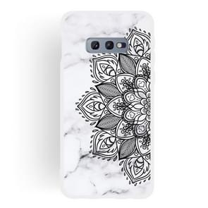 Half Flower Frosted Matte Semi-transparent TPU Marble Phone Case for Galaxy S10e