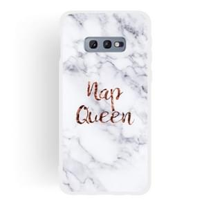 Queen Frosted Matte Semi-transparent TPU Marble Phone Case for Galaxy S10e