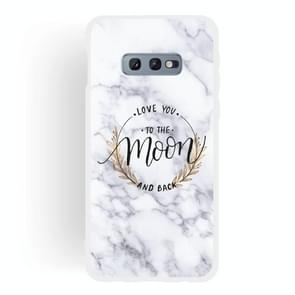 Moon Text Semi-transparent TPU Marble Phone Case for Galaxy S10e