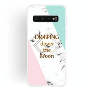Dreamcatcher Text Semi-transparent TPU Marble Phone Case for Galaxy S10+