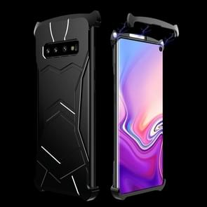 R-JUST Magnet Adsorption Metal Polished Texture Phone Case for Galaxy S10+ (Black)