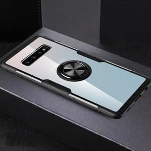 Scratchproof TPU + Acrylic Ring Bracket Protective Case for Galaxy S10 Pro(Black)