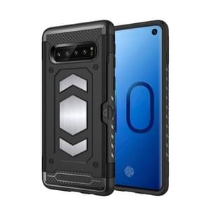 Shockproof Armor TPU + PC Protective Case for Galaxy S10, with Card Slot (Black)