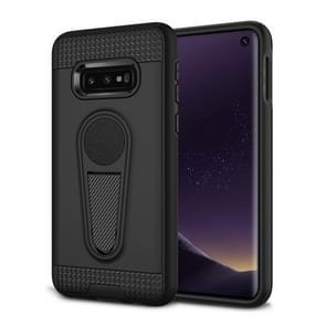 Shockproof Armor TPU + PC Protective Case for Galaxy S10 E, with Holder (Black)