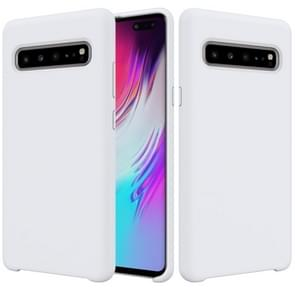 Solid Color Liquid Silicone Dropproof Protective Case for Galaxy S10 5G (White)