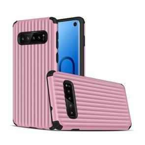Angibabe Travel Box Shape TPU + PC Protective Case for Galaxy S10 (Pink)