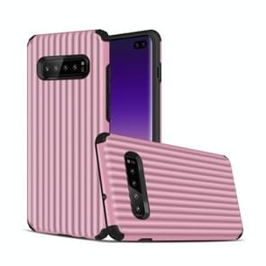 Angibabe Travel Box Shape TPU + PC Protective Case for Galaxy S10 Plus (Pink)