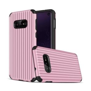 Angibabe Travel Box Shape TPU + PC Protective Case for Galaxy S10 E (Pink)