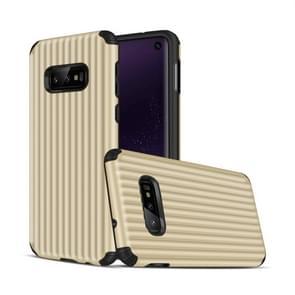 Travel Box Shape TPU + PC Protective Case for Galaxy S10 E (Gold)