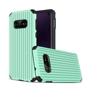 Travel Box Shape TPU + PC Protective Case for Galaxy S10 E (Mint Green)