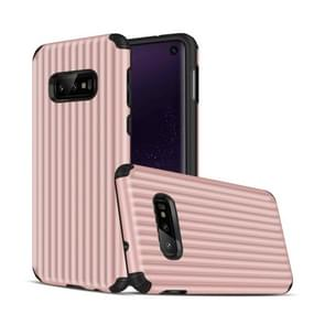 Travel Box Shape TPU + PC Protective Case for Galaxy S10 E (Rose Gold)