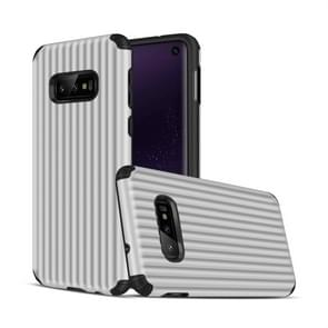 Travel Box Shape TPU + PC Protective Case for Galaxy S10 E (Silver)
