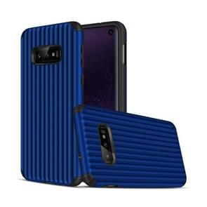 Travel Box Shape TPU + PC Protective Case for Galaxy S10 E (Sapphire Blue)