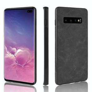 Shockproof Sheep Skin PC + PU + TPU Case for Galaxy S10 (Black)