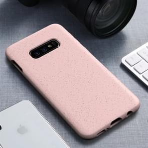 Starage serie schokbestendige stro materiaal + TPU beschermhoes voor Galaxy S10e (roze)