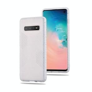Anti-slip Frosted transparante volledige geval voor Galaxy S10 (wit)