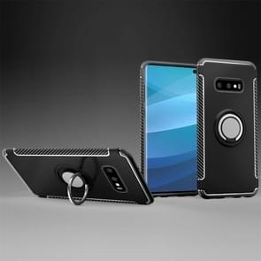Magnetic Armor Protective Case for Galaxy S10 E, with 360 Degree Rotation Ring Holder (Black)