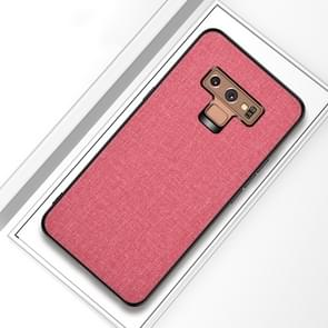 Shockproof Cloth Texture PC+ TPU Protective Case for Galaxy Note9 (Pink)