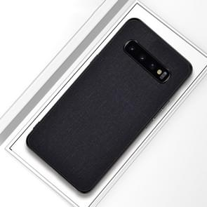 Shockproof Cloth Texture PC+ TPU Protective Case for Galaxy S10+ (Black)