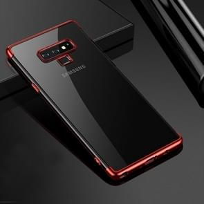 CAFELE Ultra-thin Electroplating Soft TPU Case for Galaxy Note9(Red)