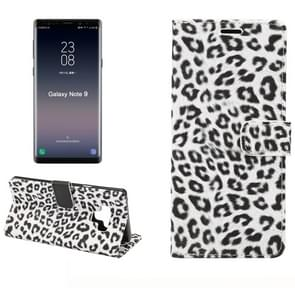Leopard Pattern Horizontal Flip PU Leather Case for Galaxy Note 9, with Holder & Card Slot & Wallet(White)