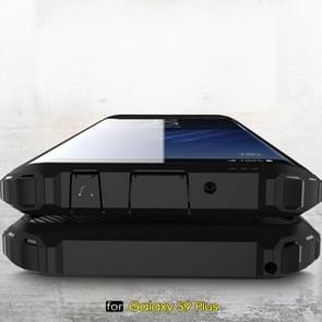 Voor Galaxy S9 PLUS TPU + PC 360 graden bescherming schokbestendige beschermende Back Cover (marineblauw)