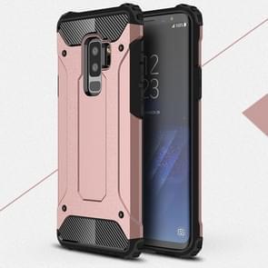 Voor Galaxy S9 PLUS TPU + PC 360 graden bescherming schokbestendige terug beschermhoes (Rose goud)