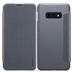 NILLKIN Frosted Texture Horizontal Flip Leather Case for Galaxy S10e (Grey)