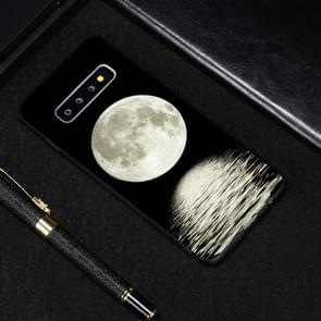 Moon Painted Pattern Soft TPU Case for Galaxy S10+