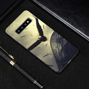 Eagle Painted Pattern Soft TPU Case for Galaxy S10+