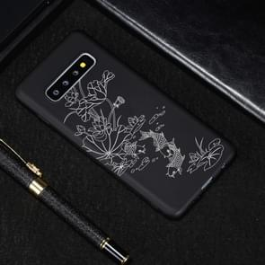 Lotus Pond Painted Pattern Soft TPU Case for Galaxy S10+