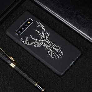 Elk Painted Pattern Soft TPU Case for Galaxy S10+