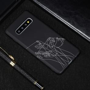 Five Hands Painted Pattern Soft TPU Case for Galaxy S10+