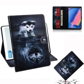 Wolf and Dog Pattern Horizontal Flip Leather Case for Galaxy Tab A 8 (2019) / P200 / P205, with Holder & Card Slot & Wallet