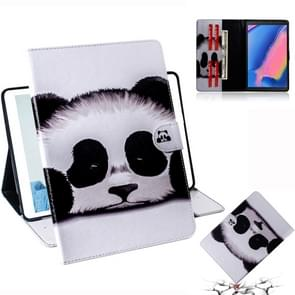 Panda Pattern Horizontal Flip Leather Case for Galaxy Tab A 8 (2019) / P200 / P205, with Holder & Card Slot & Wallet