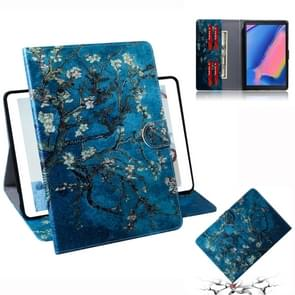 Apricot Blossom Pattern Horizontal Flip Leather Case for Galaxy Tab A 8 (2019) / P200 / P205, with Holder & Card Slot & Wallet