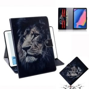 Lion Pattern Horizontal Flip Leather Case for Galaxy Tab A 8 (2019) / P200 / P205, with Holder & Card Slot & Wallet