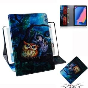 Oil Owl Pattern Horizontal Flip Leather Case for Galaxy Tab A 8 (2019) / P200 / P205, with Holder & Card Slot & Wallet