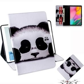 Panda Pattern Horizontal Flip Leather Case for Galaxy Tab A 10.1 (2019) T510 / T515, with Holder & Card Slot & Wallet