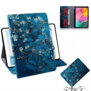 Apricot Blossom Pattern Horizontal Flip Leather Case for Galaxy Tab A 10.1 (2019) T510 / T515, with Holder & Card Slot & Wallet
