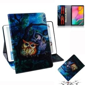Oil Owl Pattern Horizontal Flip Leather Case for Galaxy Tab A 10.1 (2019) T510 / T515, with Holder & Card Slot & Wallet