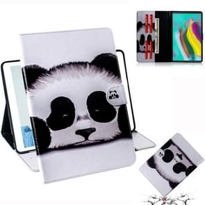 Panda Pattern Horizontal Flip Leather Case for Galaxy Tab S5E T720 / T725, with Holder & Card Slot & Wallet