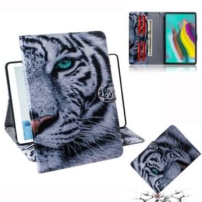 Tiger Pattern Horizontal Flip Leather Case for Galaxy Tab S5E T720 / T725, with Holder & Card Slot & Wallet