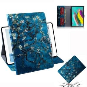 Apricot Blossom Pattern Horizontal Flip Leather Case for Galaxy Tab S5E T720 / T725, with Holder & Card Slot & Wallet
