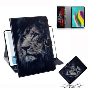 Lion Pattern Horizontal Flip Leather Case for Galaxy Tab S5E T720 / T725, with Holder & Card Slot & Wallet