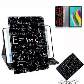 Formule patroon horizontale Flip lederen case voor Galaxy tab S5E T720/T725  met houder & Card slot & portemonnee