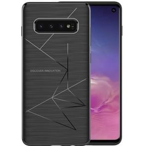 NILLKIN Rhombus Texture TPU Protective Back Cover Case for Galaxy S10 (Black)